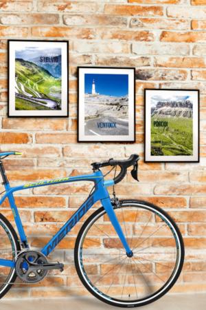 Zestaw plakatów Kultowe Podjazdy – Stelvio, Ventoux, Pordoi