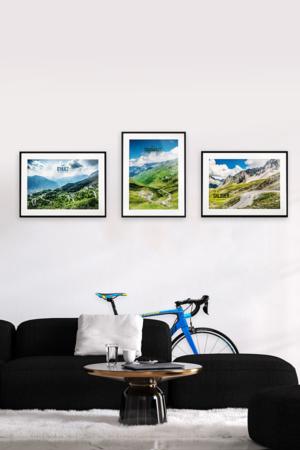 Zestaw plakatów Legendy Tour de France – Alpe d'Huez, Tourmalet, Galibier